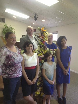 Family celebrating Easter at Church